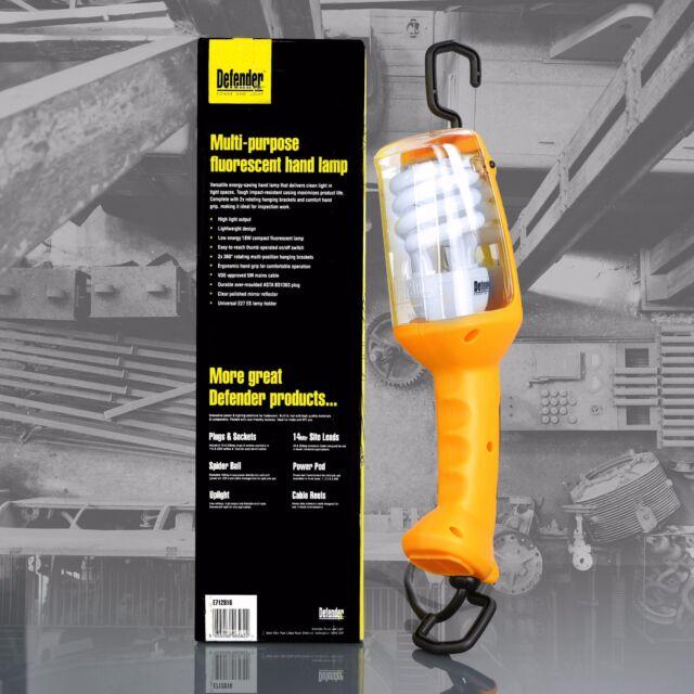 DEFENDER E712816 FLUORESCENT 240V HAND INSPECTION SITE LAMP ENERGY SAVING