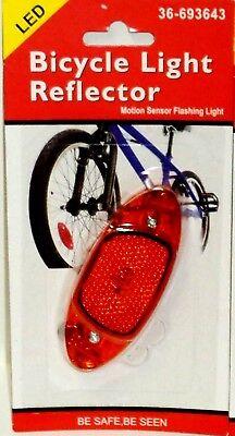 1 Led Bicicletta Riflettore Sensore Movimento Luce Lampeggiante Attaccare Alla Avere Una Lunga Posizione Storica