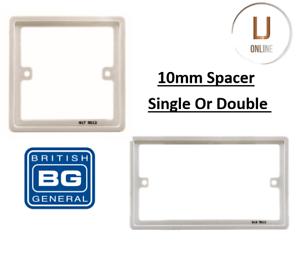 Bg Nexus 1 G Simple Double 2 G Commutateur 10 Mm Espaceur Cadre Socket Box Plaque Arrière Neuf-afficher Le Titre D'origine