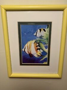 Mark-Newman-Framed-Butterfly-Fish-Signed-Artist-Proof-Print-Tropical-Fish