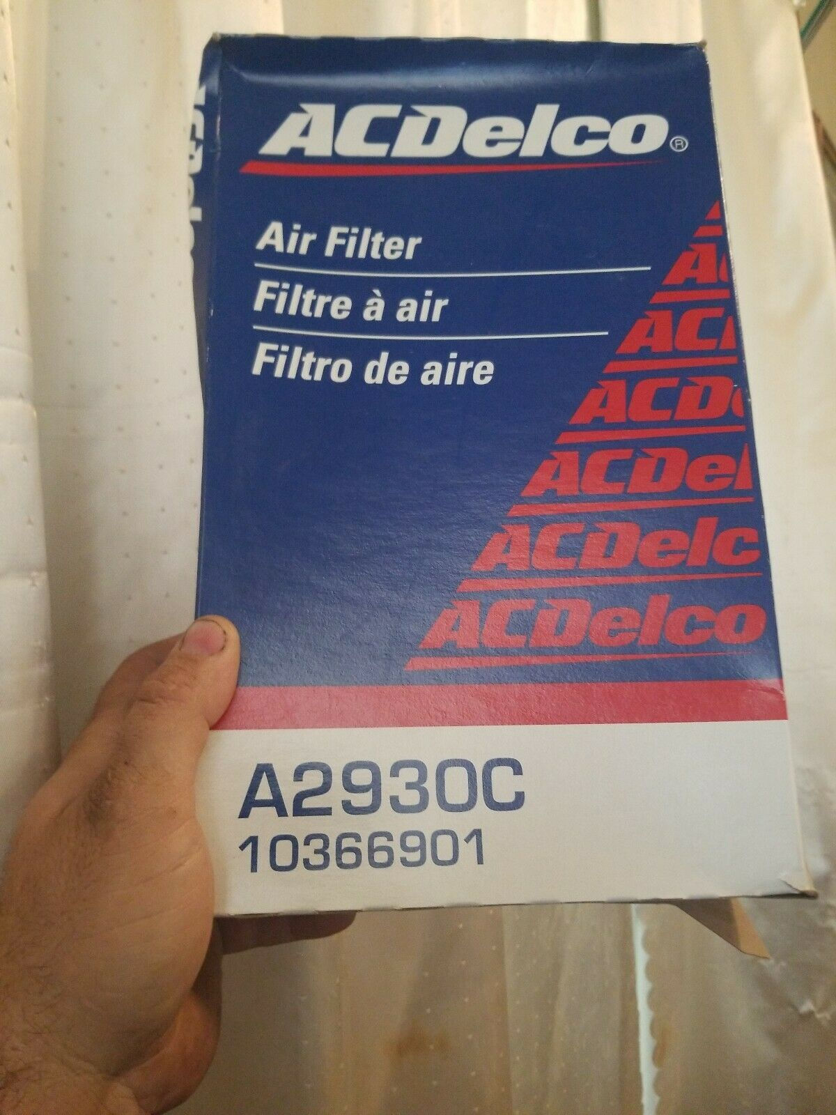 Air Filter ACDelco Pro A2930C