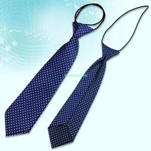 Blue-Dot-Scuola-Boy-Girl-Kids-Bambino-Matrimonio-Festa-elastico-Tie-Cravatta-4399383