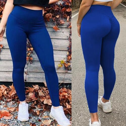 Ladies Fitness Sport Compression Leggings Running Gym Yoga Pants Trousers Pocket