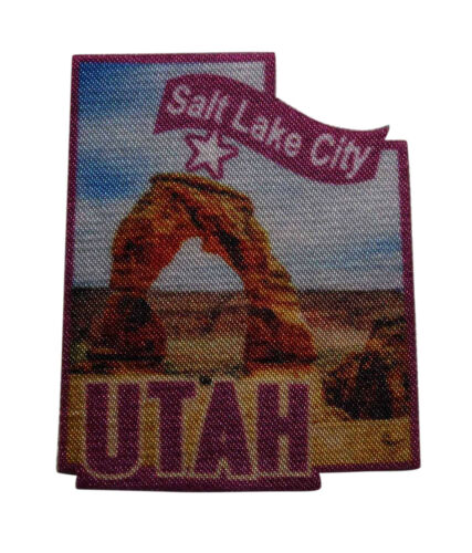 Travel Souvenir State Capitol 054-R Salt Lake City Utah Printed Iron On Patch