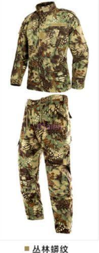 Men Camo Army Outwear Suit Coat Jacket Pant Military Training 2pcs Fashion Chic