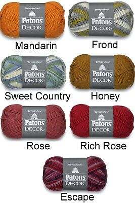 PATONS DECOR ~ soft luxury color offered to pick from~washable wool~soft blues