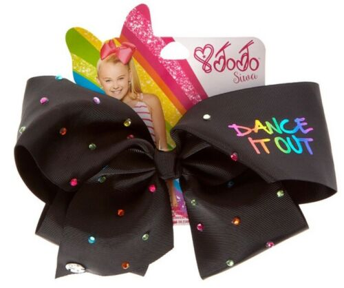 JoJo Siwa Large Dance It Out Black Hair Bow Dance Hair Bows Cheerleader Bow