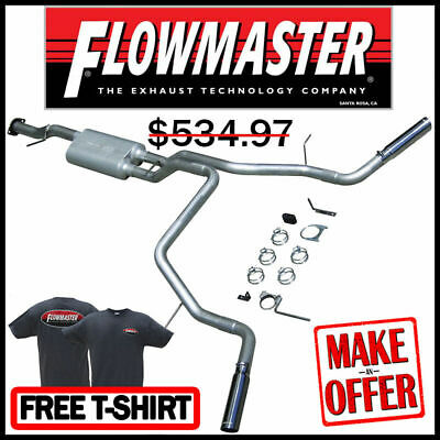 Moderate Sound Dual Side Exit Flowmaster 17430 Cat-back System American Thunder