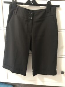 Dorothy-Perkins-Black-City-Shorts-Size-8