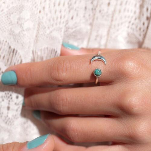 Femmes Anneau 925 Argent Sterling Turquoise Gemme Mariage Bijoux Mariage Hommes