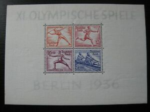 THIRD-REICH-Mi-Block-6-mint-Summer-Olympics-stamp-sheet-CV-60-00
