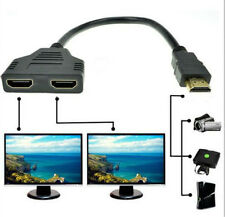 HDMI Port 1080p Converter 1 in 2 out Splitter Cable Adapter Home Male to 2female
