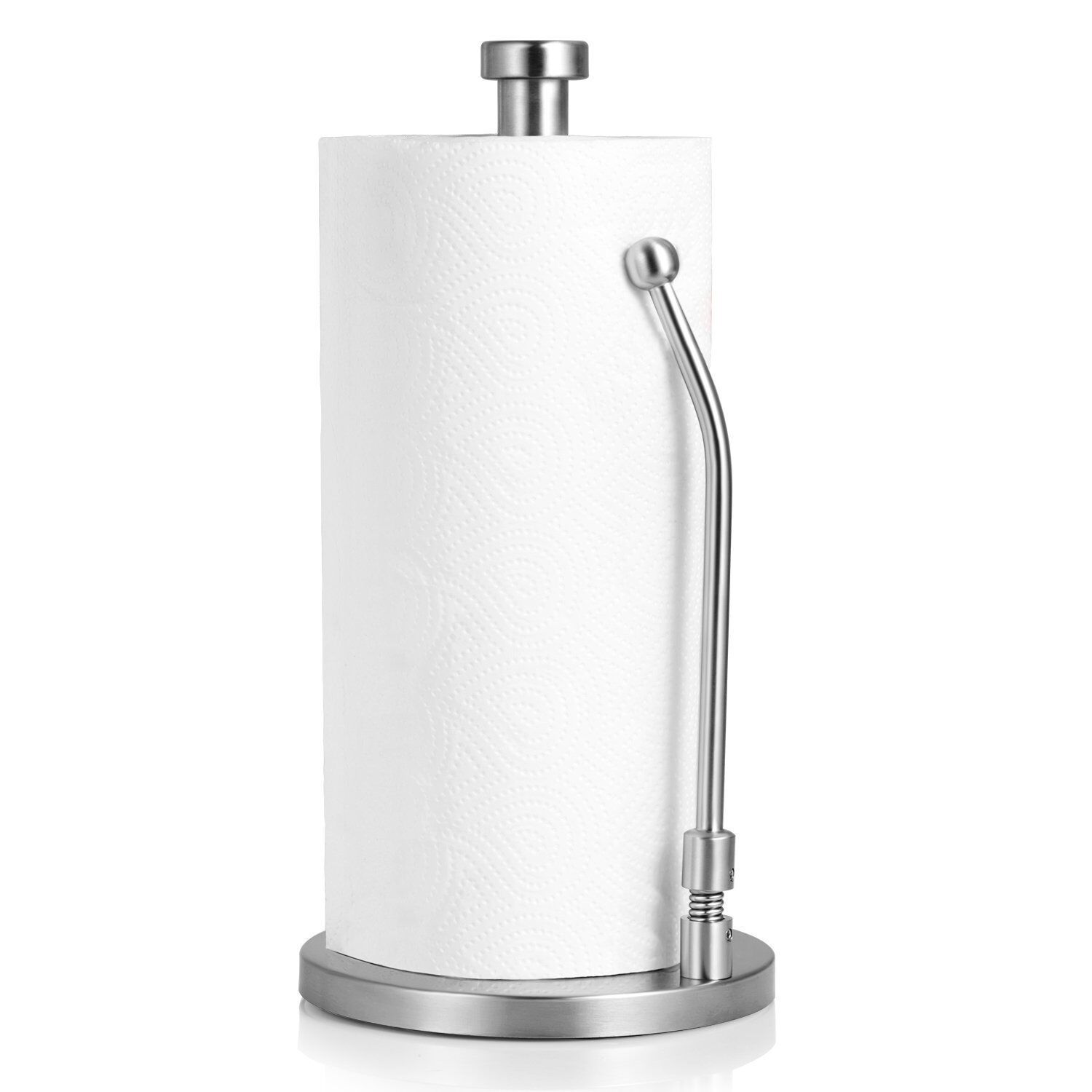 Picture of: Standing Paper Towel Holder Stainless Steel Kitchen Tissue Holder Countertop For Sale Online