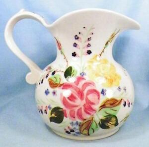 Blue-Ridge-Southern-Potteries-Ida-Rose-Pitcher-Vintage-32-Ounce-Hard-2-Find-NICE