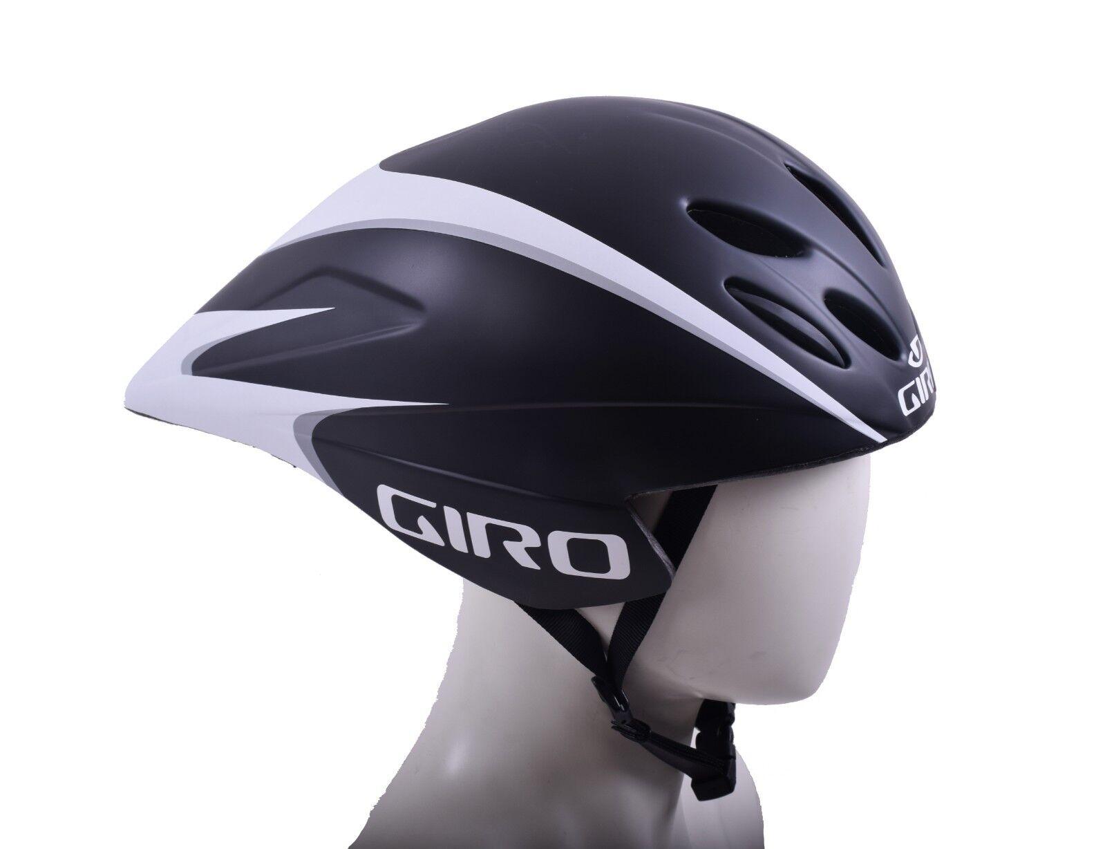 Giro de Ventaja de Giro Carreras TT AERO Racing Bicicleta Pequeña pequeña casco 51-55 Cm Negro/Blanco ca7086
