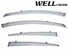 WellVisors Side Window Deflectors Visors with Chrome Trim For 14-UP KIA Cadenza