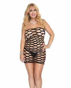 4ebd7fc2048 Details about Plus Size Strapless Spandex Pothole Tube Dress - Music Legs  6158Q