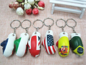 Simulation-Boxing-Gloves-Keychain-Pendant-Sporting-Gloves-Keyring-Gift-Toys-RA