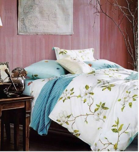 New Cotton Duvet Cover Set Quilted Bedding Set With Pillow Cases /& Fitted Sheet