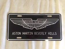 Aston Martin Beverly Hills Logo License Plate Insert Genuine metal