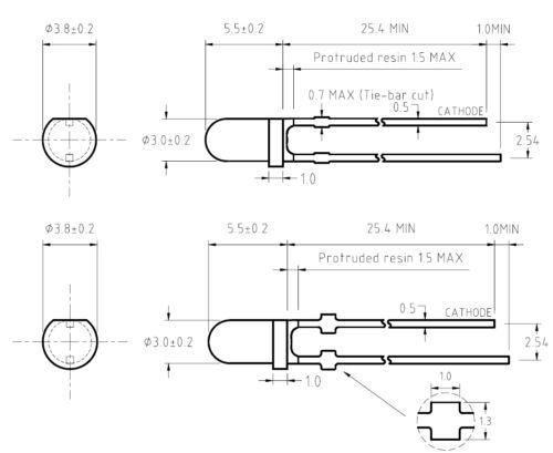 Schrumpfschlauch inkl 50 Superhelle KALT-WEIßE Leds 3mm 10000mcd Led weiß