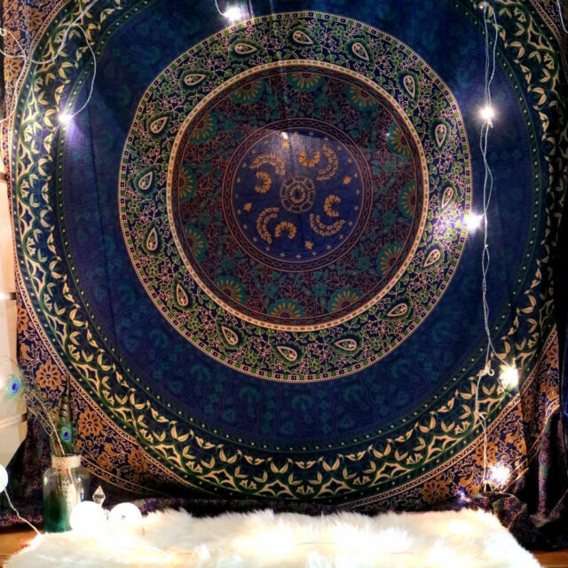 Large Indian Mandala Tapestry Wall Hanging Hippie Urban Throw Cotton Bedspread