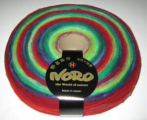100 gms of NORO RAINBOW ROLL pencil roving weaving spinning knitting yarn #1019
