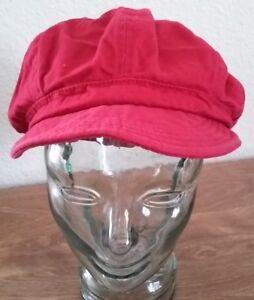 Unisex-Visor-Newsboy-Hat-Cap-Men-Women-Red