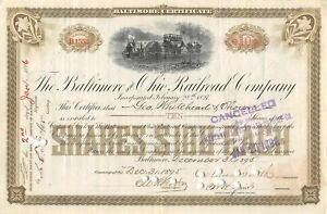 The-Baltimore-and-Ohio-Railroad-company-1895-certificate-10-shares
