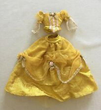 Barbie as Belle Gown 2000 Beauty and the Beast Gold w/ Pink Rose