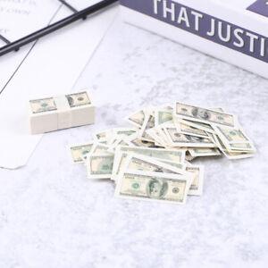 100-Sheets-set-Mini-Dollar-1-12-Dollhouse-Miniature-Life-Money-Us-100-TP