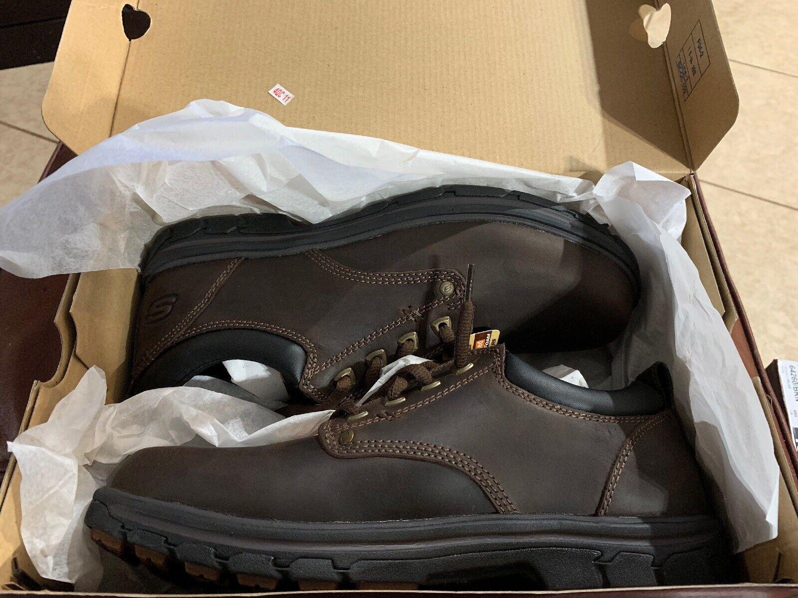 New Men's Skechers Segment-RILAR Relaxed Fit Memory Foam Brown shoes Size 9.5