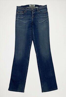 Appena Moschino Jeans Donna Usato Slim Stretch W27 Tg 41 Gamba Dritta Denim Blu T5548