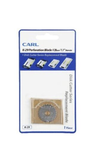 1 of 1 - Carl K-29 Perforation Blade Disk Cutter Series Replacement Blade 28mm Diameter