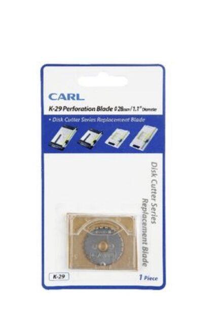 Carl K-29 Perforation Blade Disk Cutter Series Replacement Blade 28mm Diameter