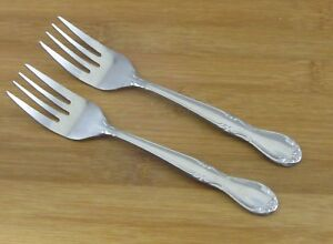 2-TWO-Oneida-Melinda-Salad-Dessert-Forks-6-1-4-034-VGC-Stainless-Flatware