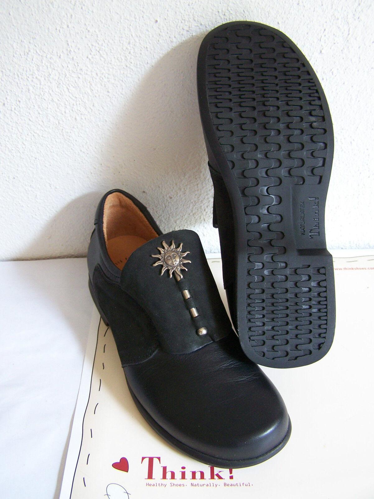 Think  Schuh Modell Pensa Mond schwarzer Slipper Sonne - Mond Pensa & Schuhbeutel f0f674