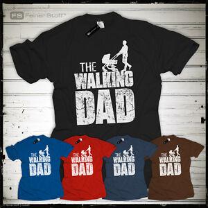 The-Walking-Dad-T-Shirt-Fun-Papa-Eltern-Vatertag-Geschenk-Kinderwagen-Geburt
