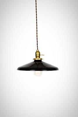 antique brass or chrome Industrial Gloss White 12 Porcelain Enamel Shade Edison Pendant Light