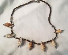 COCONUT SHELL NECKLACE W LARGE SEA SHELLS jewelry SJ007 seashell necklaces NEW