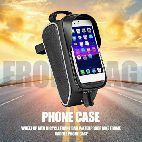 Bike Bicycle Frame Pannier Front Tube Pouch Mobile Phone Holder Cycling Bags