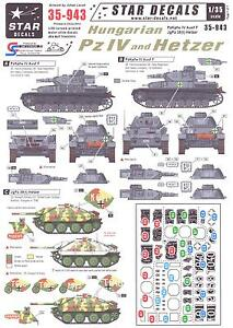 Star-Decals-1-35-HUNGARIAN-PANZER-IV-AND-HETZER-TANKS