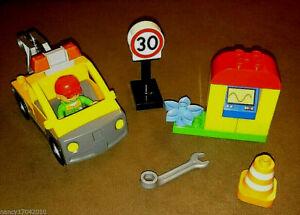 Lego-Duplo-LKW-Abschleppwagen-Kran-aehnlich-6146-Tow-Truck-Pannenhilfe