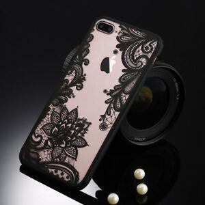 Housses-Coques-Etui-Dentelle-Fleur-SOUPLE-Transparent-pour-Samsung-Galaxy-S8-S9
