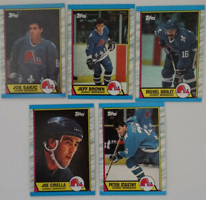 1989-90-Topps-Quebec-Nordiques-Team-Set-of-5-Hockey-Cards