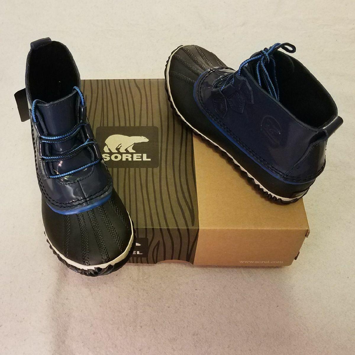 Sorel Damenschuhe Rain Stiefel 6.5 Blau Out N About Nocturnal NEU in Box #NL2511-591