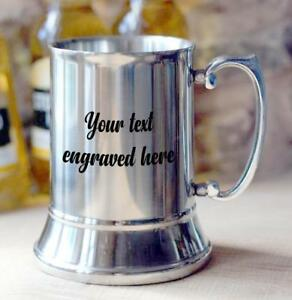 Personalised-Engraved-Stainless-Steel-tankard-Gift-For-Him-Any-Engraving