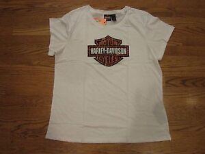Harley Davidson Authentic Black//White Womens Renew The Ride Short Sleeve T-Shirt