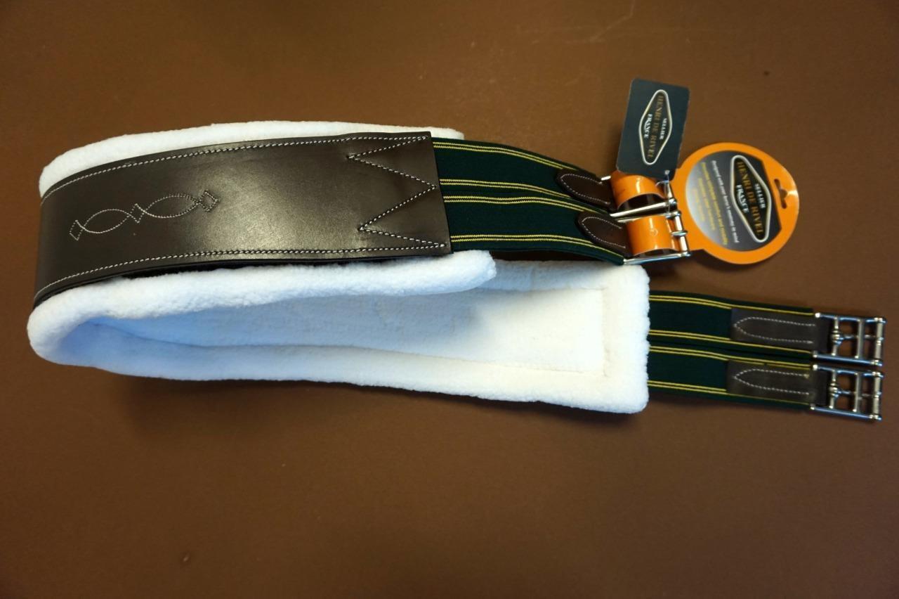 Henri De Rivel Abnehmbare Synthetik Fleecefutter Leder Gurt 6266-112cm Havana
