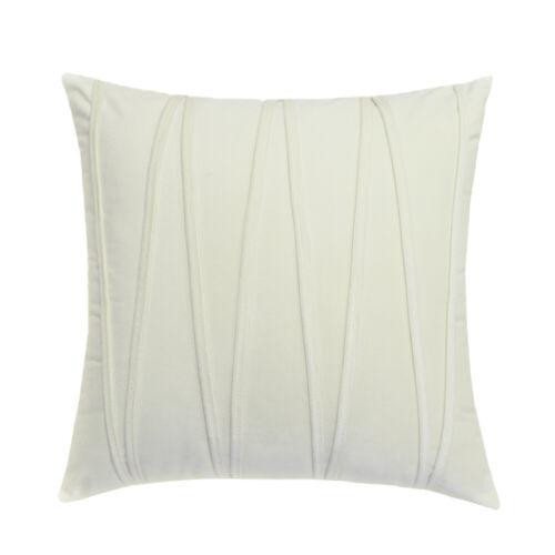 Soft Velvet Stripe Cushion Cover Solid Pillow Case Home Office Sofa Decoration